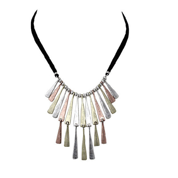 Tribal multi tone necklace set
