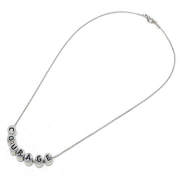 Courage necklace - silver