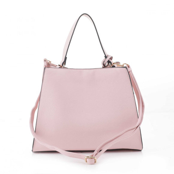 Turn lock hobo bag - pink