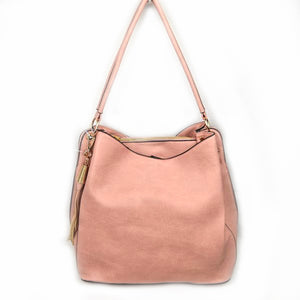 Single handle hobo with pouch - blush