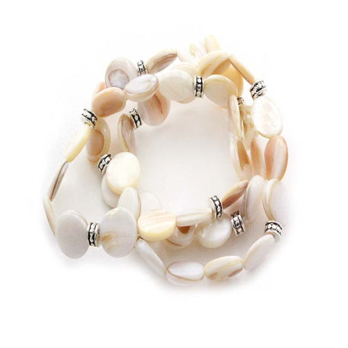 STRETCH SHELL BRACELET - NATURAL