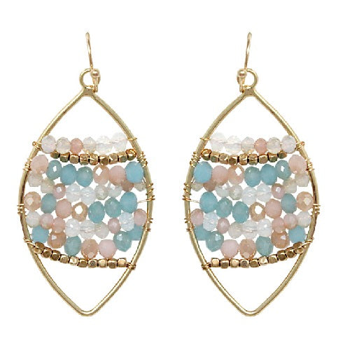 Marquise shape earring - multi