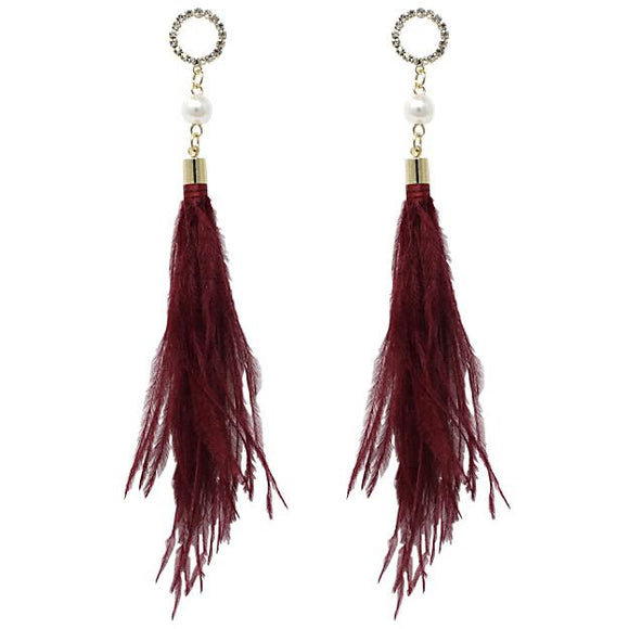 FEATHER EARRING - Pink Vanilla