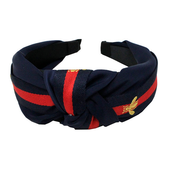 Bee & Stripe headband - navy