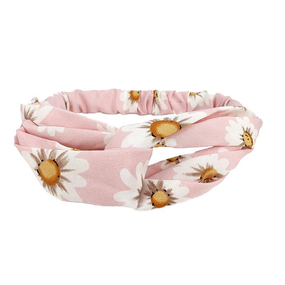 Floral hairband - pink