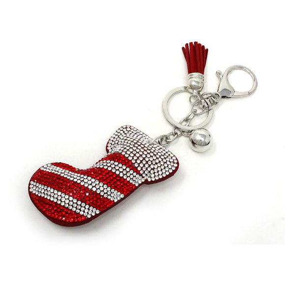 [12PC] Christmas Socks keychain