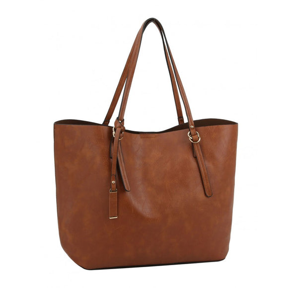 Fashion 2 in 1 tote - brown