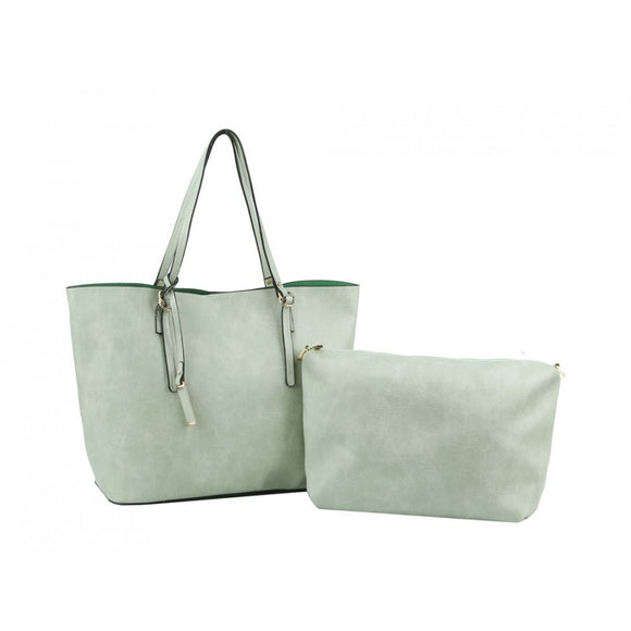 Fashion 2 in 1 tote - mint
