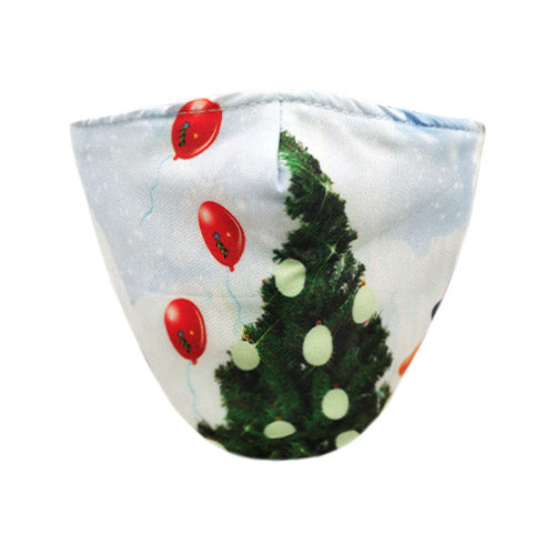 Christmas tree cotton mask - white