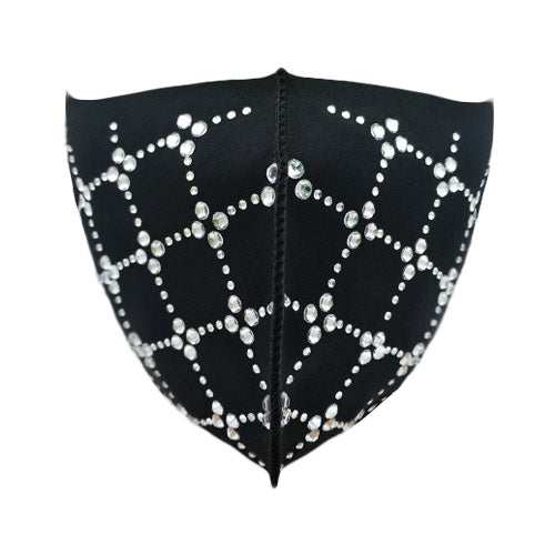 Quilting pattern polyester mask - clear stud