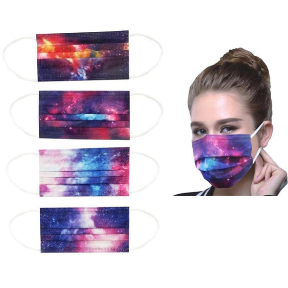 Disposable 3PLY Mask - galaxy [50 PC]