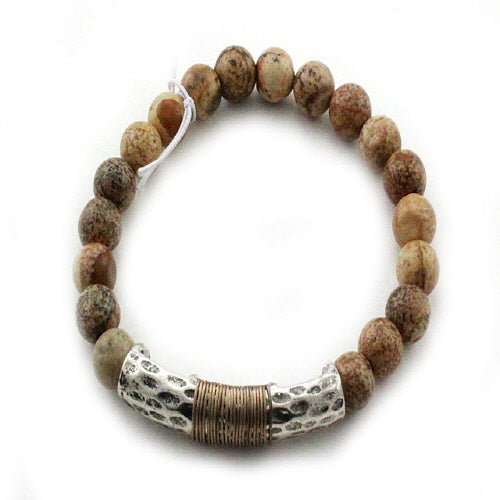 NATURAL STONE BRACELET - BROWN
