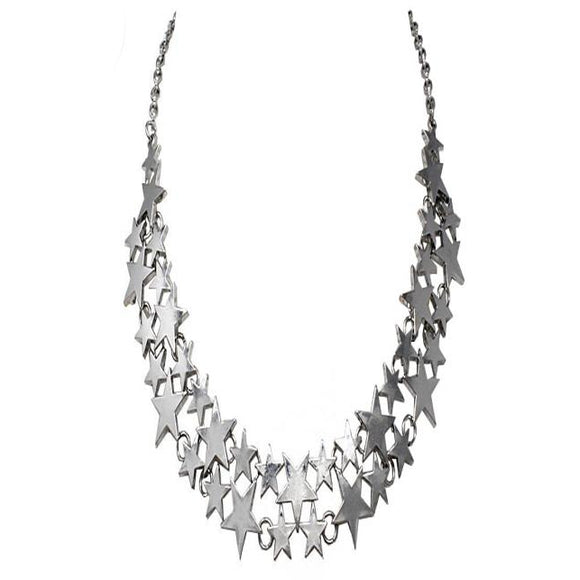 SILVER STAR NECKLACE SET