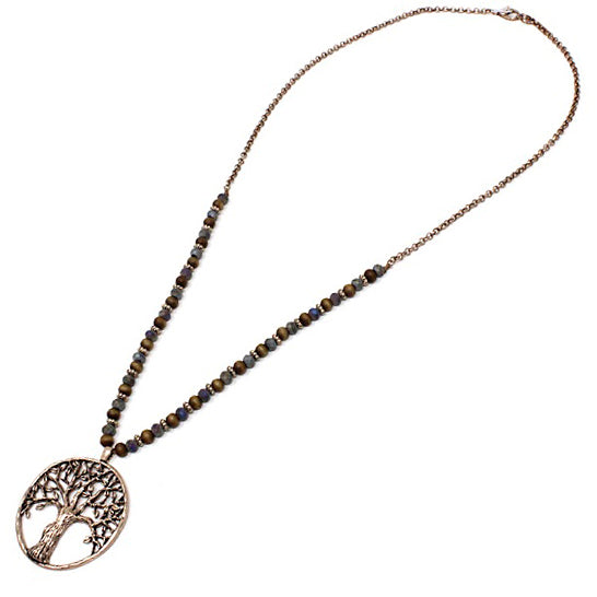 Tree of life necklace set - gold