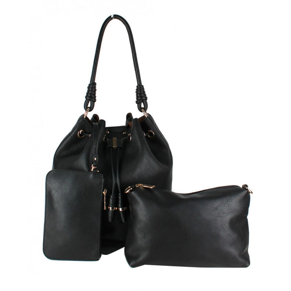 3 in 1 Bucket bag - black