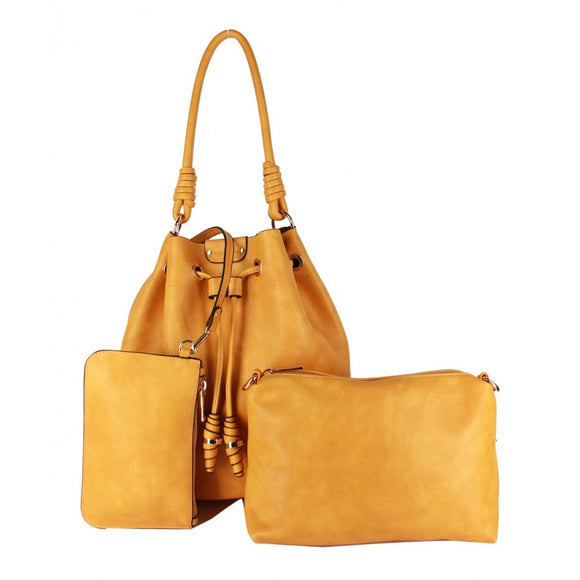 3 in 1 Bucket bag - mustard