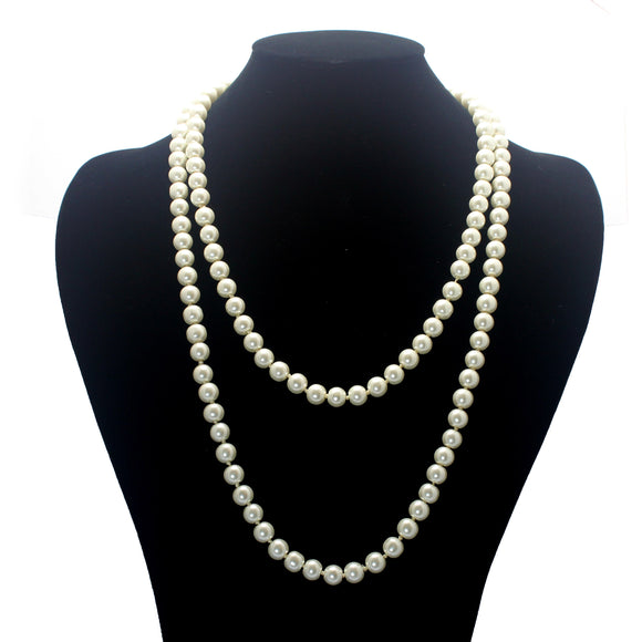 LONG PEARL NECKLACE ONLY