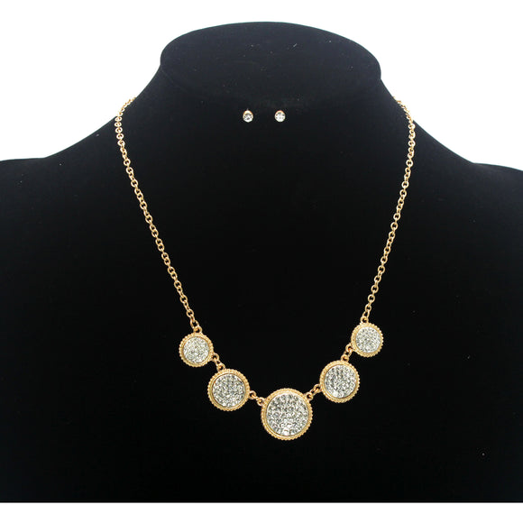 PAVE NECKLACE SET
