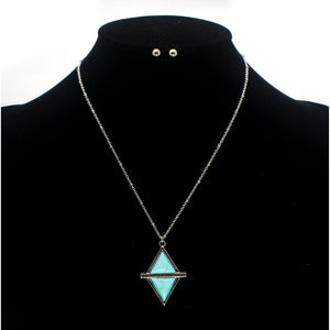 TURQUOISE STUD NECKLACE SET