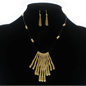 METAL BAR NECKLACE SET
