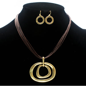 MULTI RING NECKLACE SET