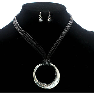ROUND & STUD NECKLACE SET