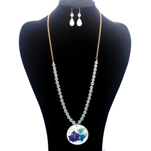 MOTHER OF PEARL NECKLACE SET