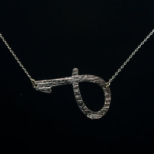 "INITIAL ""J"" NECKLACE"