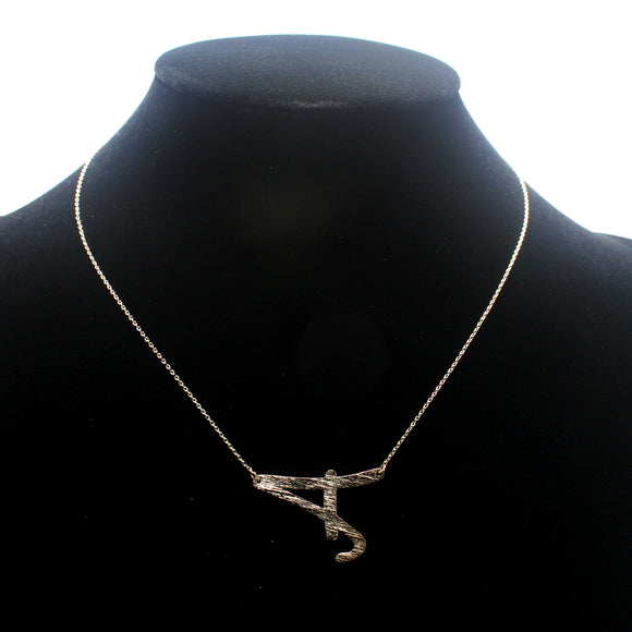 "INITIAL ""A"" NECKLACE"