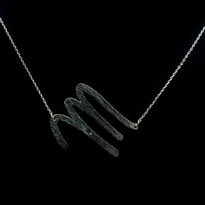 "INITIAL ""M"" NECKLACE"