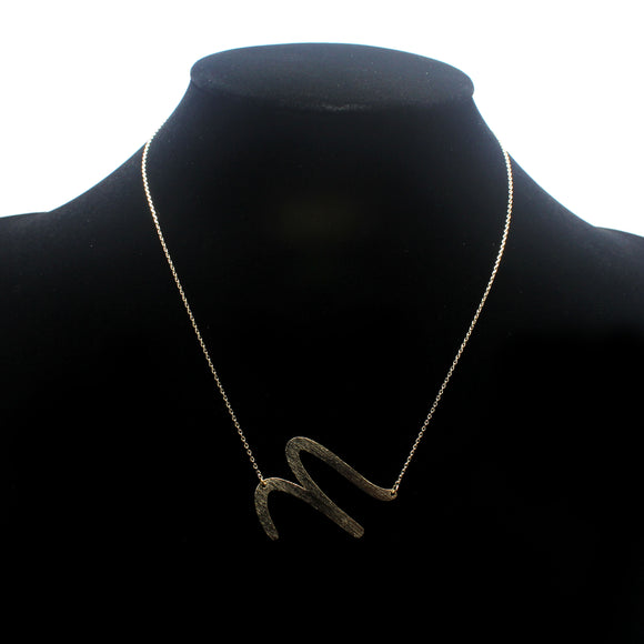 "INITIAL ""N"" NECKLACE"