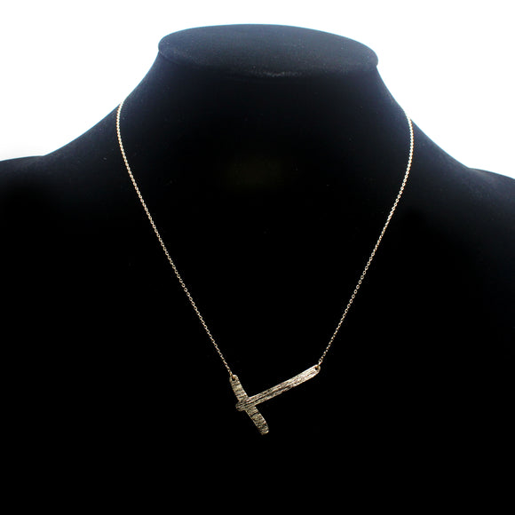 "INITIAL ""T"" NECKLACE"