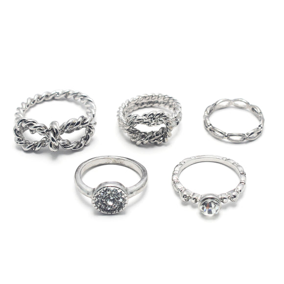 5 PC SET RINGS - Pink Vanilla