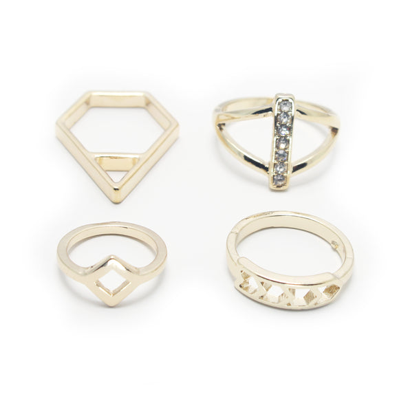 4 PC SET RINGS - Pink Vanilla