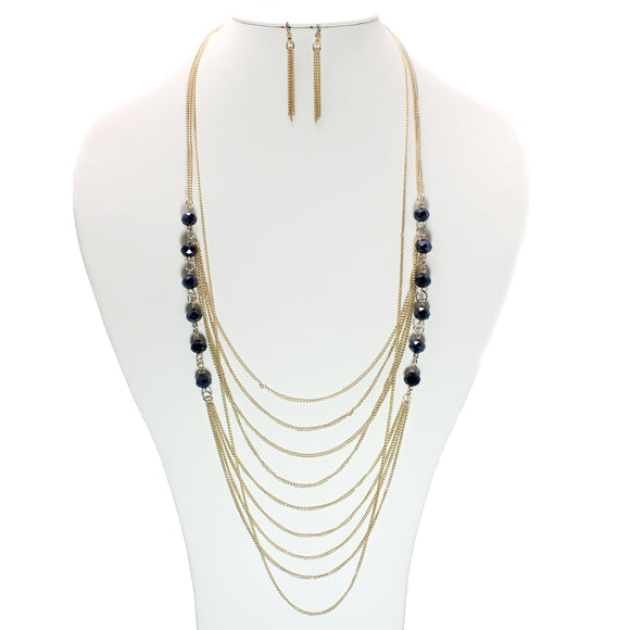 MULTI ROW NECKLACE SET