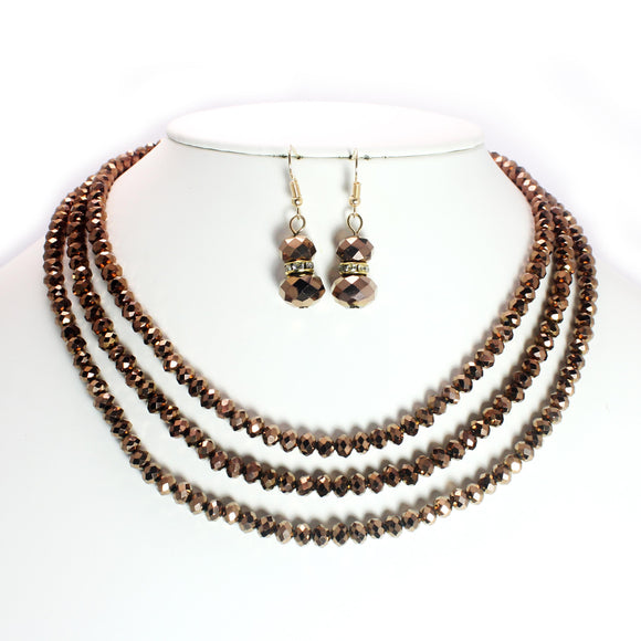 MULTI ROW BEAD NECKLACE SET