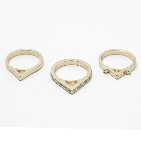 3 PC SET RINGS - Pink Vanilla