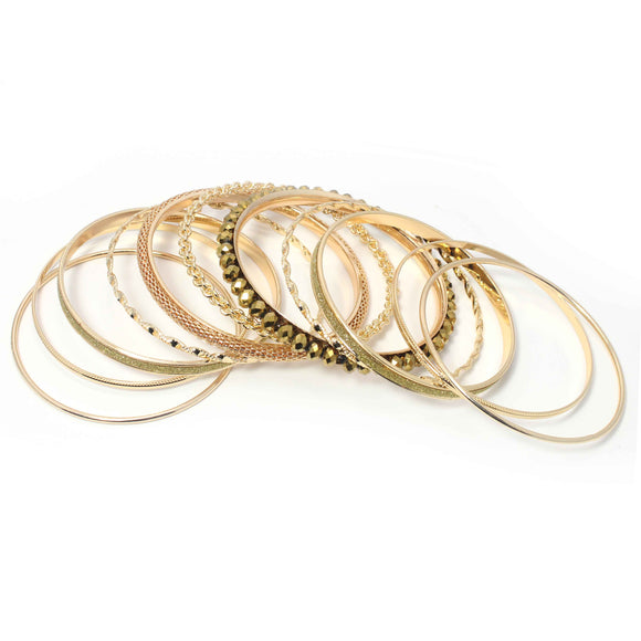 11 PC SET BANGLE - Pink Vanilla