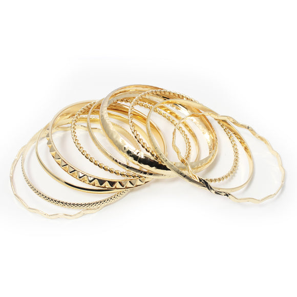 10 PC SET BANGLE - Pink Vanilla