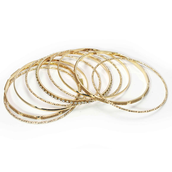9 PC SET BANGLE - Pink Vanilla
