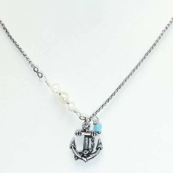 ANCHOR NECKLACE SET - Pink Vanilla