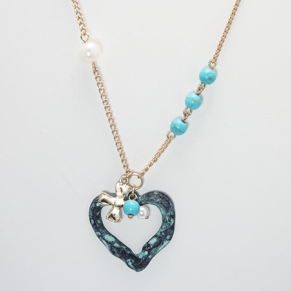 HEART NECKLACE SET - Pink Vanilla
