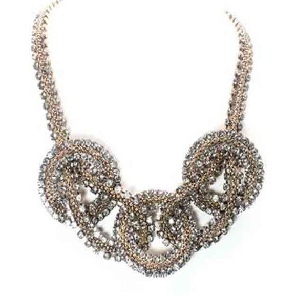 EMBELLISHED RHINESTONE NECKLACE - Pink Vanilla
