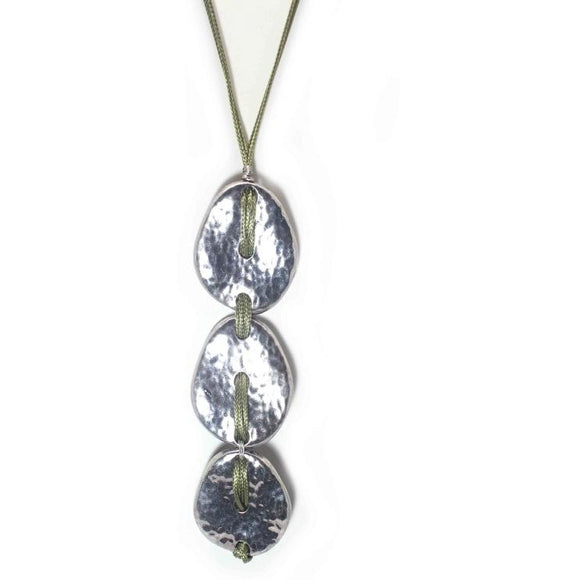 SILVER MULTI DROP NECKLACE SET