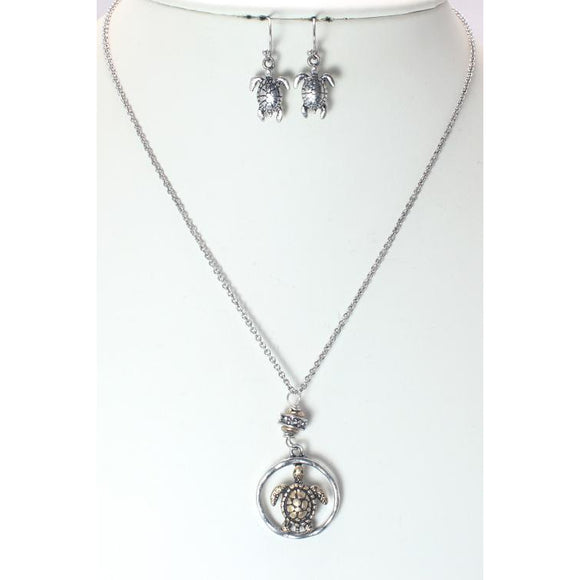 SEA TURTLE NECKLACE SET