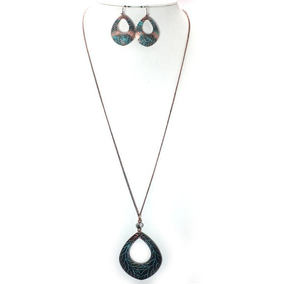 OVAL SHAPE NECKLACE SET