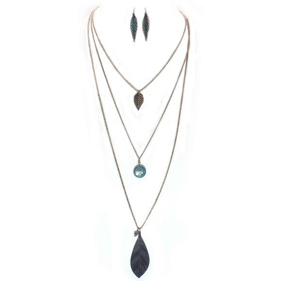 LAYERED NATURE NECKLACE SET