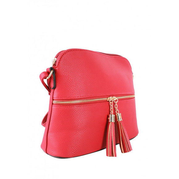 Tassel crossbody bag - blush