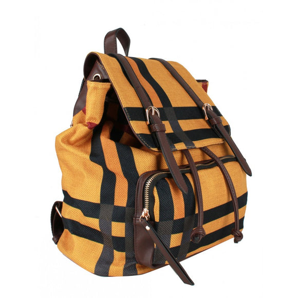 Multi stripe backpack - coral