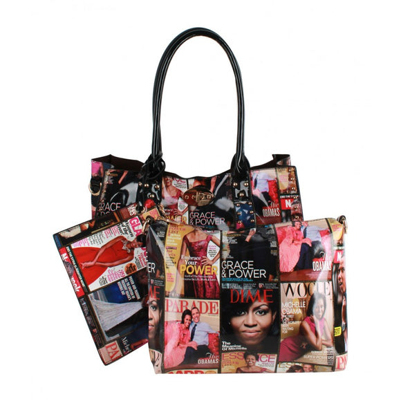 Michelle Obama tote set - multi